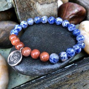 Jewelry - 🆕🆕🆕✨LAPIS LAZULI + ROSEWOOD BEAD BRACELET✨8mm